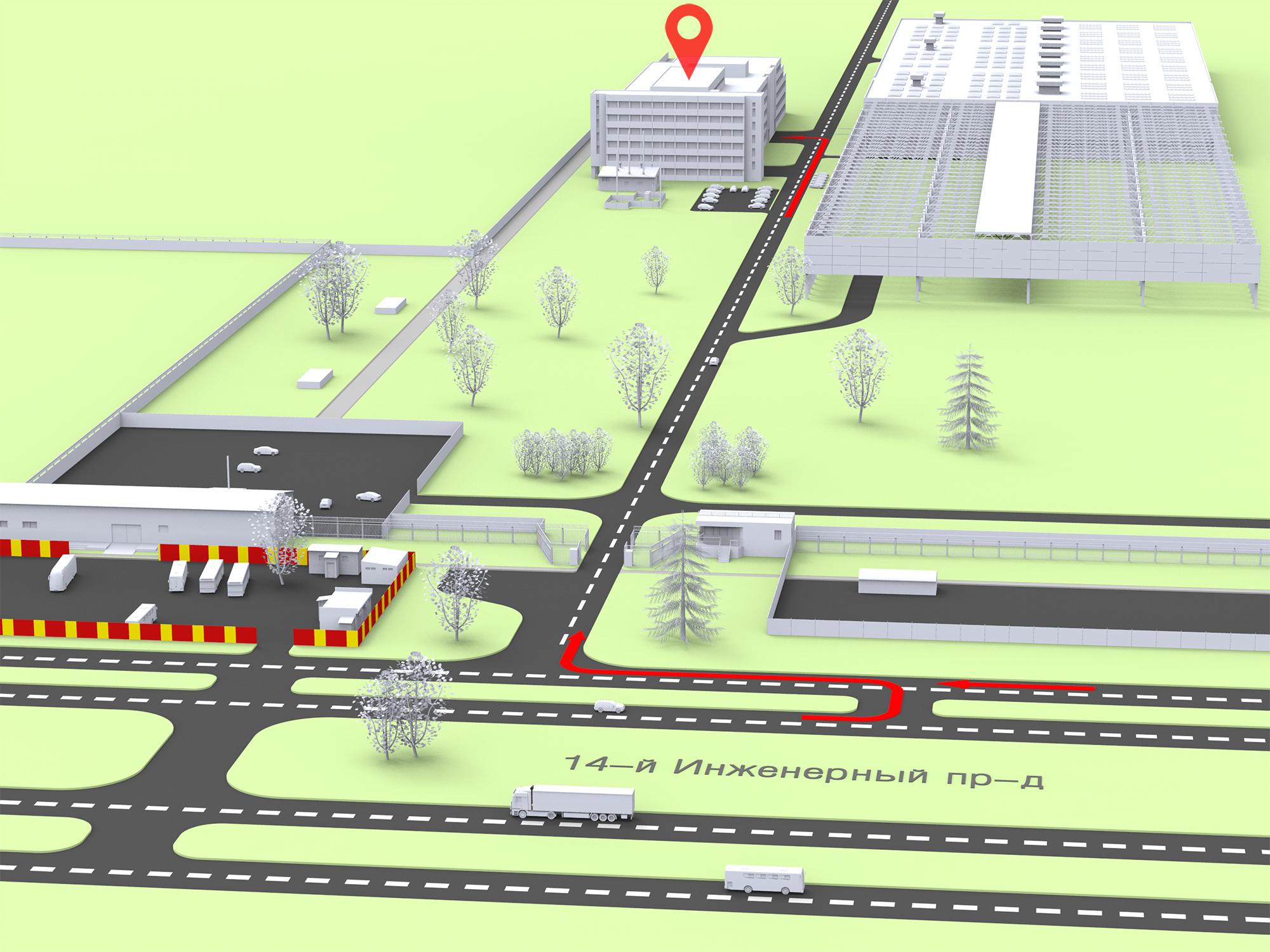 Станки ПРОФИ 3D схема проезда